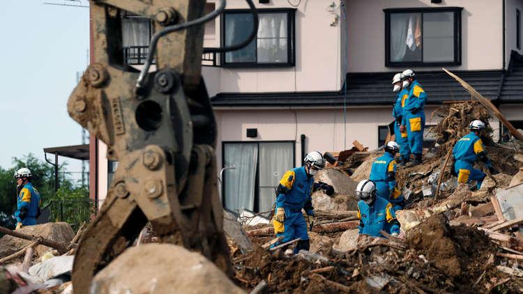نحو 200 قتيل جراء الأمطار والسيول في اليابان