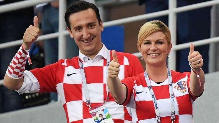 شاهد.. بهذه الطريقة حفزت رئيسة كرواتيا منتخب بلادها أمام إنجلترا