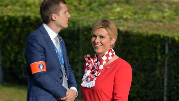 """رئيسة كرواتيا تعبر عن مشاعرها بتغريدة """"عاطفية"""" عقب الفوز على إنجلترا"""
