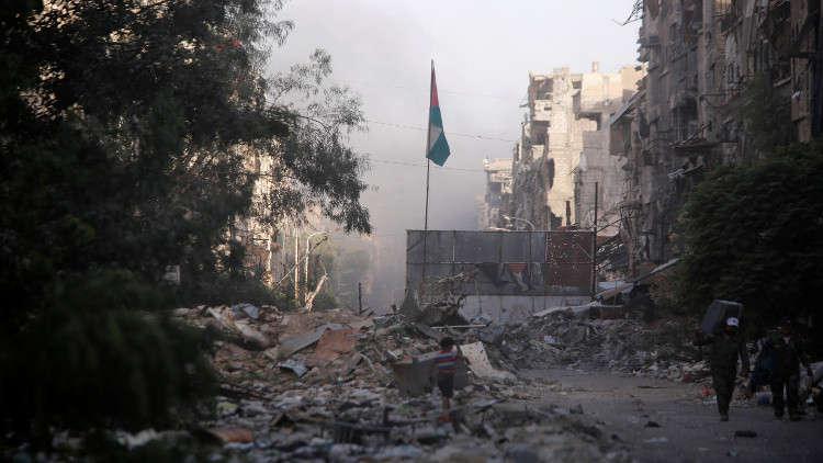 إعادة إعمار اليرموك والمفقودون محور محادثات منظمة التحرير الفلسطينية في دمشق