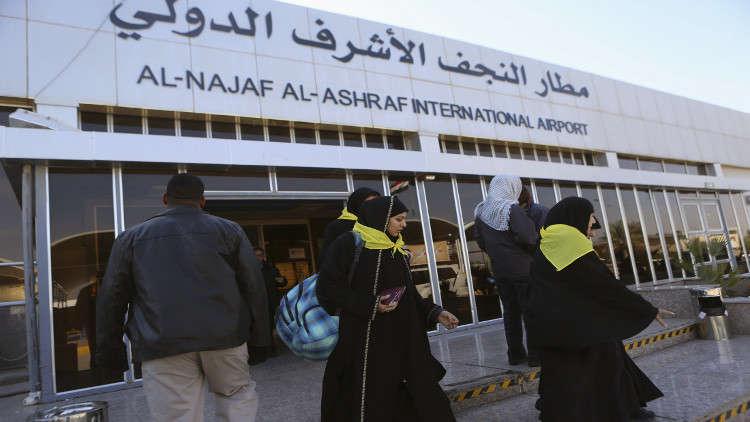 رفع حظر التجوال عن النجف واستئناف الحركة الجوية في مطارها بعد خروج المحتجين منه