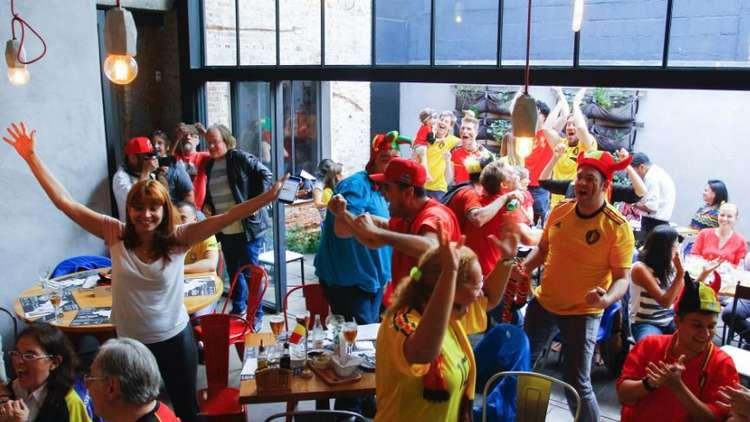 شاهد.. فرحة الجماهير البلجيكية لحظة تسجيل هدف منتخبهم