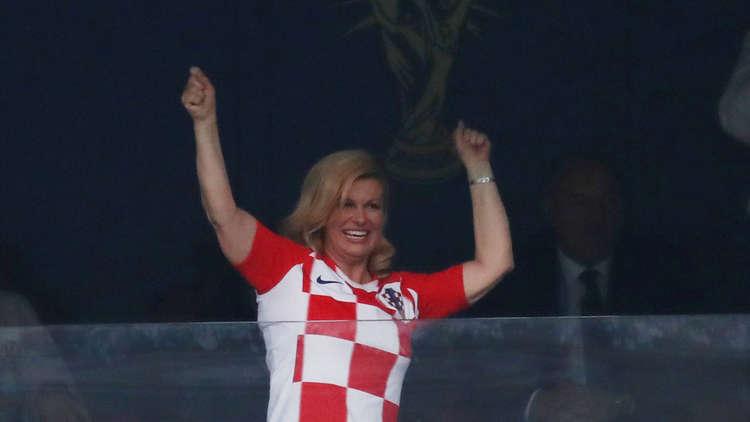 الرجوب يتغزل برئيسة كرواتيا خلال نهائي كأس العالم