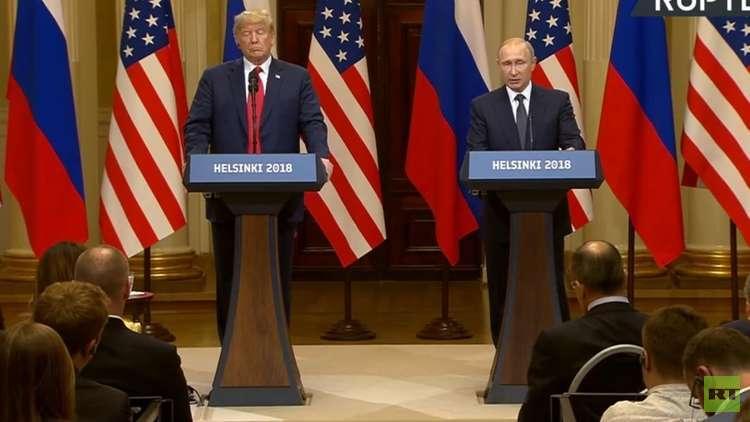 ترامب: علاقاتنا مع روسيا تغيرت منذ 4 ساعات بفضل لقائنا مع بوتين