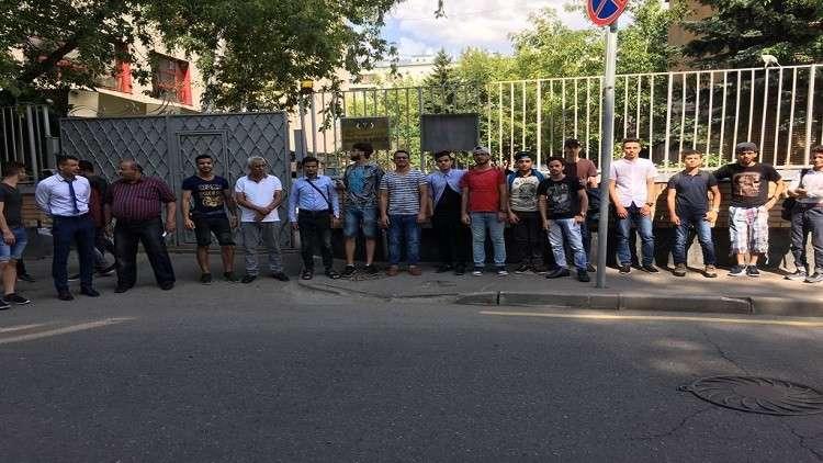 طلاب يمنيون يعلنون اعتصاما مفتوحا أمام سفارة بلادهم في موسكو