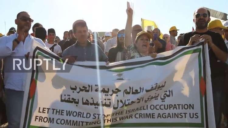 احتجاجات في قرية الخان الأحمر على مخطط استيطاني إسرائيلي