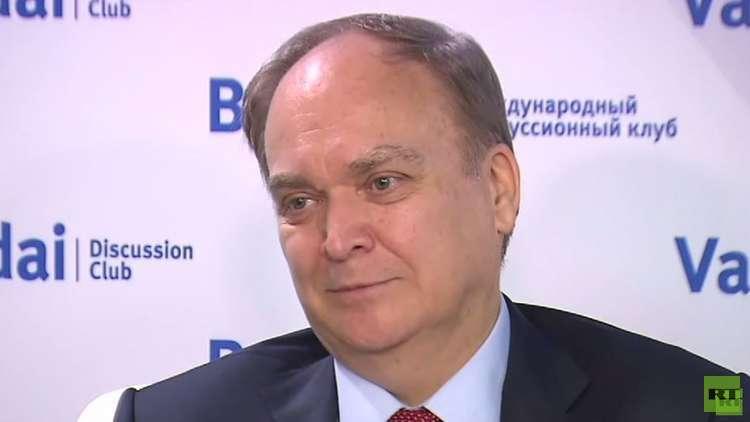 السفير الروسي لدى واشنطن أناتولي أنطونوف