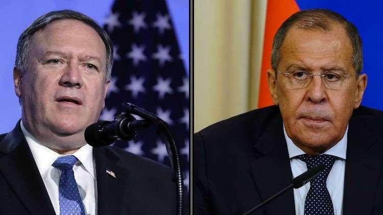 لافروف وبومبيو يبحثان التعاون المشترك لحل المشاكل الإنسانية في سوريا