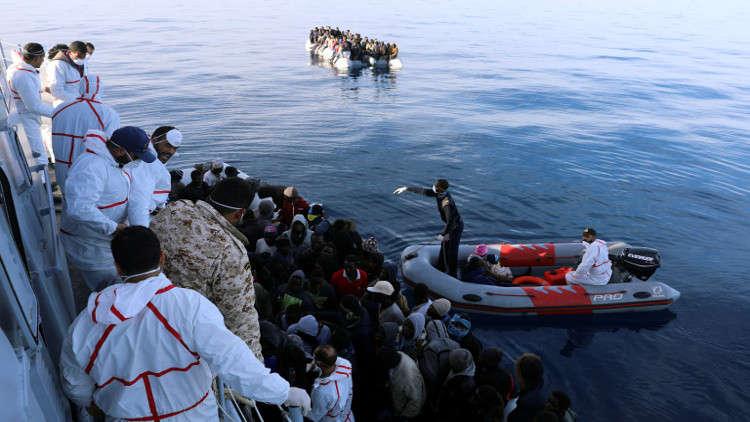 إنقاذ 40 مهاجرا غير شرعيين على السواحل الليبية