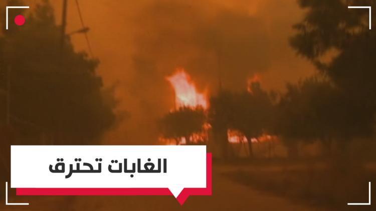 حرائق الغابات تهدد العاصمة اليونانية