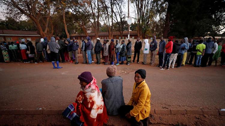 طوابير الناخبين، هراري، زيمبابوي، 30 يوليو 2018