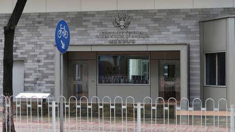 مبنى القنصلية الأمريكية في مدينة غوانزو الصينية