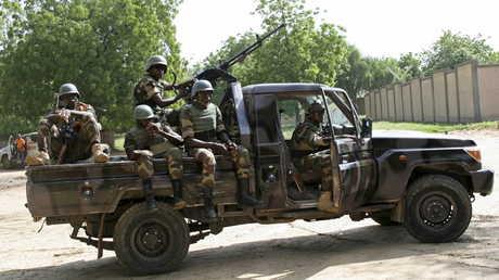 جنود نيجريون في مهمة أمنية