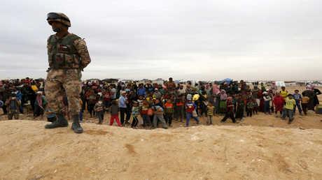 ヨルダン国境のシリア難民