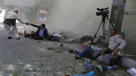 الانفجار في كابل في أبريل 2018، أرشيف