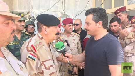 الفريق الركن مزهر العزاوي ومراسل RT