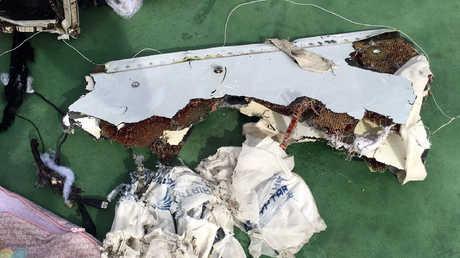 حطام الطائرة المصرية المنكوبة