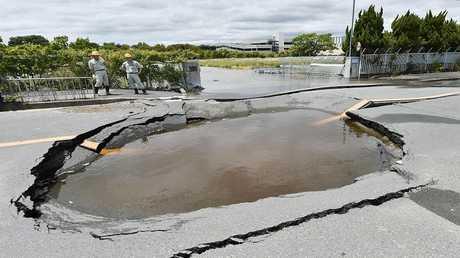 صورة ارشيفية لعواقب زلزال في اليابان