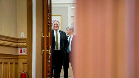 وزير الخارجية الأمريكي مايك بومبيو خلال زيارته الثالثة لكوريا الشمالية