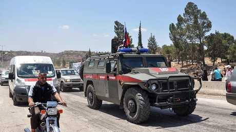 عربة تابعة للشرطة العسكرية الروسية بسوريا - صورة من الأرشيف