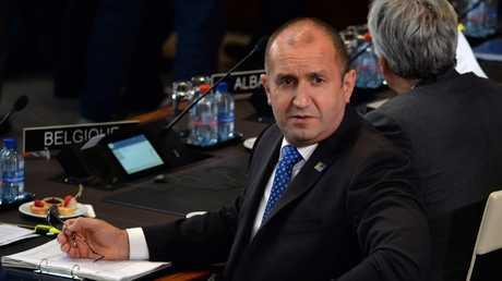 الرئيس البلغاري رومن راديف خلال مشاركته في قمة الناتو، بروكسل، 11/7/2018