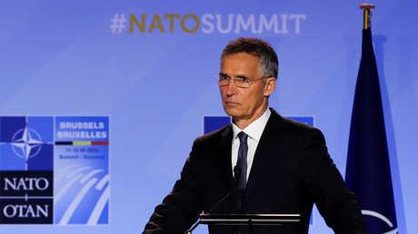 الأمين العام لحلف الناتو ينس ستولتنبيرغ، بروكسل، 12 يوليو 2018