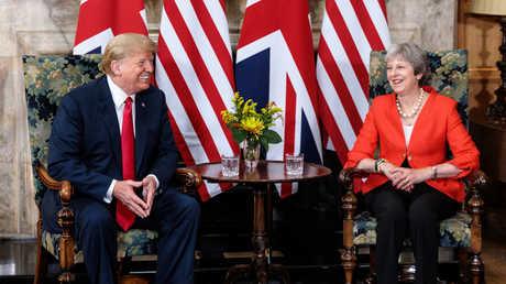 الرئيس الأمريكي، دونالد ترامب، ورئيسة الوزراء البريطانية، تيريزا ماي