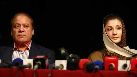 رئيس وزراء باكستان السابق، نواز شريف، وابنته مريم