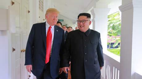 لقاء زعيم كوريا الشمالية كيم جونغ أون والرئيس الأمريكي دونالد ترامب في سنغافورة، 12 يونيو 2018