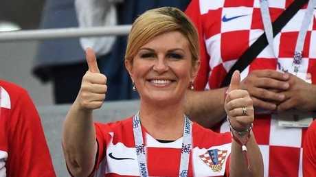 قبيل نهائي مونديال 2018.. رئيسة كرواتيا تشكر روسيا باللغة الروسية (فيديو)