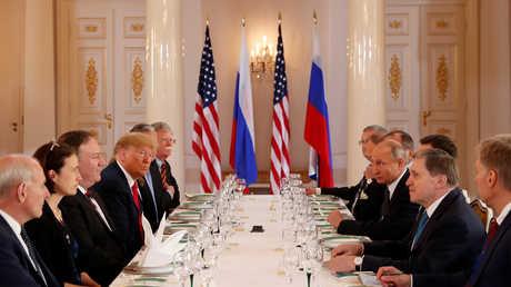 الاجتماع الموسع بين بوتين وترامب بمشاركة وفدي روسيا والولايات المتحدة