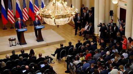 المؤتمر الصحفي المشترك للرئيسين الروسي والأمريكي في هلسنكي