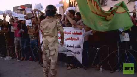 تواصل المظاهرات في مدن العراق الجنوبية