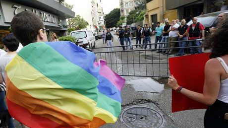 ناشطون خلال تظاهرة لمثليين في لبنان