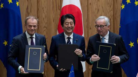 اليابان والاتحاد الأوروبي يطلقان أكبر منطقة اقتصادية مفتوحة في العالم