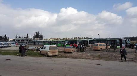تحضيرات لبدء إجلاء سكان بلدتي الفوعة وكفريا بريف إدلب وفك الحصار حولهما