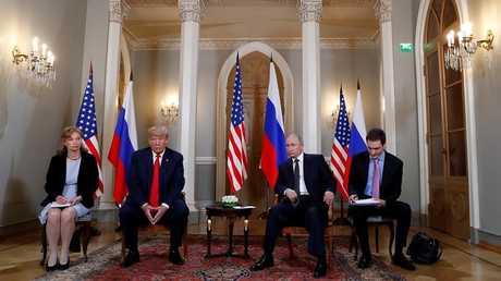 لقاء الرئيس الروسي فلاديمير بوتين بنظيره الأمريكي دونالد ترامب في هلسنكي