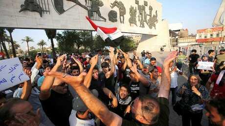 مظاهرات في بغداد