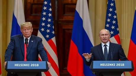 لقاء الرئيسين دونالد ترامب وفلاديمير بوتين في هلسنكي