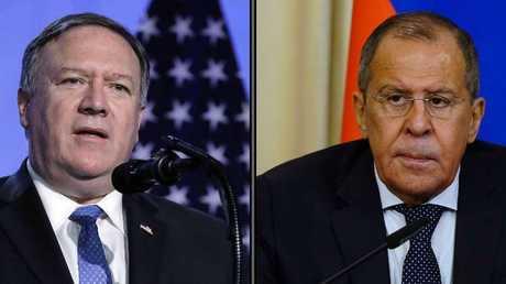 وزيرا الخارجية الروسي سيرغي لافروف والأمريكي مايك بومبيو