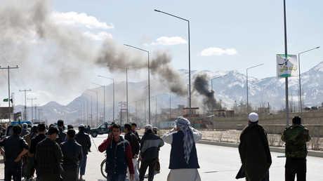 لحظة هجوم في أفغانستان