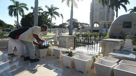 ضريح زعيم الثورة الكوبية فيديل كاسترو