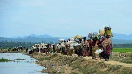 مجموعة من اللاجئين الروهينغا
