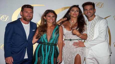 نجوم العالم في حفل الزفاف الثاني لفابريغاس وزوجته اللبنانية