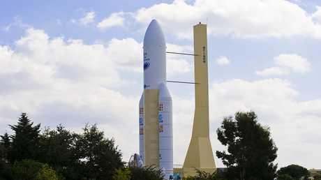صاروخ أريان 5 يحمل إلى الفضاء أربعة أقمار اصطناعية