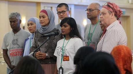 مؤتمر صحفي بمشاركة أقارب ركاب الطائرة الماليزية المفقودة، بوتراجايا، ماليزيا، 30 يوليو 2018