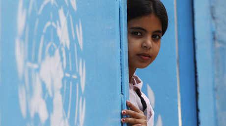 طفلة فلسطينية في مركز لـ
