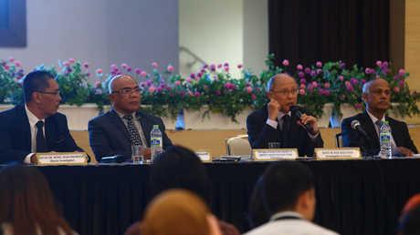 مؤتمر صحفي لفريق التحقيق بعد نشر تقريره حول الطائرة الماليزية المفقودة، بوتراجايا، ماليزيا، 30 يوليو 2018