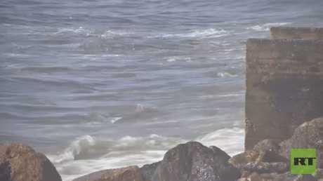 مستويات غير مسبوقة للتلوث على شواطئ غزة