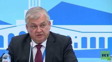 رئيس الوفد الروسي في اجتماع